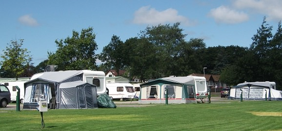 image of caravan standings at Claylands camping and caravan site.